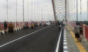 Dilarang Parkir di Jembatan Musi VI, Jika Rewel Akan Ditindak