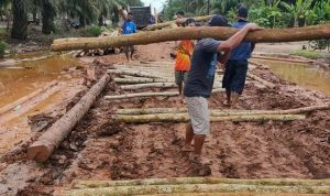 Swadaya, Masyarakat Margomulyo Benahi Jalan Rusak