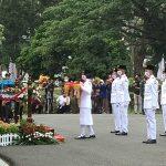 Upacara HUT RI ke 76 di Halaman Rumah Dinas Walikota Palembang Berjalan Khidmat
