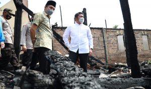 HD Jamin Kebutuhan Makan dan Tempat Tinggal Korban Kebakaran Desa Pemulutan